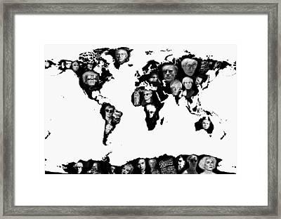 Andy Warhol World Map Framed Print by Stephen Walker