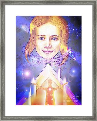Framed Print featuring the mixed media Angel by Hartmut Jager