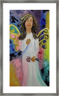 Angel Framed Print by Melissa Torres