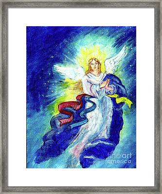 Angel Of Joy Framed Print by Doris Blessington