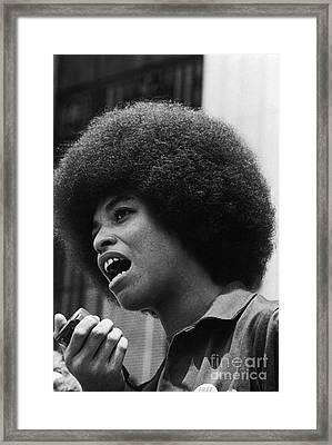 Angela Davis (1944- ) Framed Print