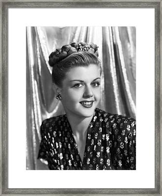 Angela Lansbury, 1945 Framed Print by Everett