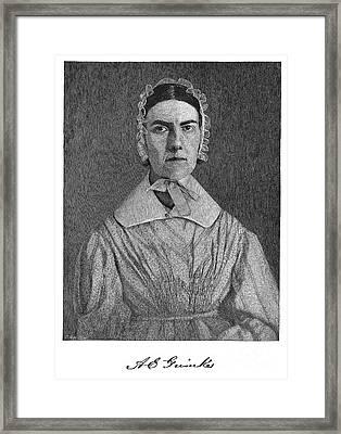 Angelina Emily Grimke Framed Print by Granger