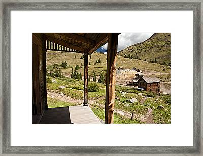 Animas Forks Crosshatch Framed Print by Melany Sarafis