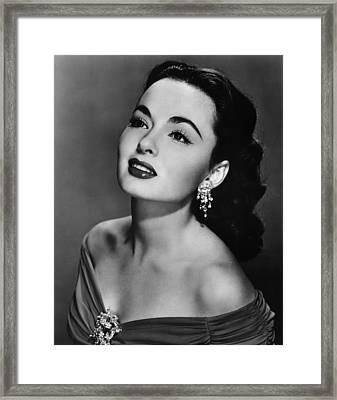 Ann Blyth, Ca. 1950s Framed Print by Everett
