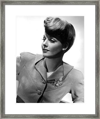 Ann Sheridan, Portrait Ca. 1942 Framed Print by Everett