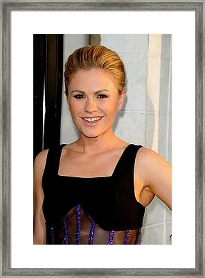 Anna Paquin At Arrivals For True Blood Framed Print by Everett