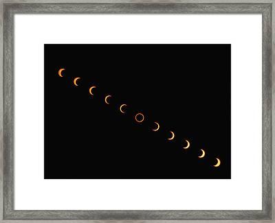 Annular Solar Eclipse, 10 May 1994 Framed Print