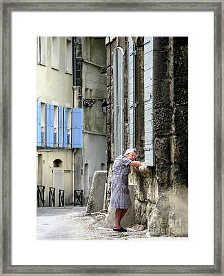 Another Nap.arles.france Framed Print by Jennie Breeze