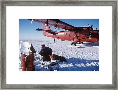 Antarctic Research Framed Print by David Vaughan