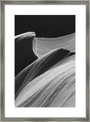 Framed Print featuring the photograph Antelope Canyon Desert Abstract by Mike Irwin