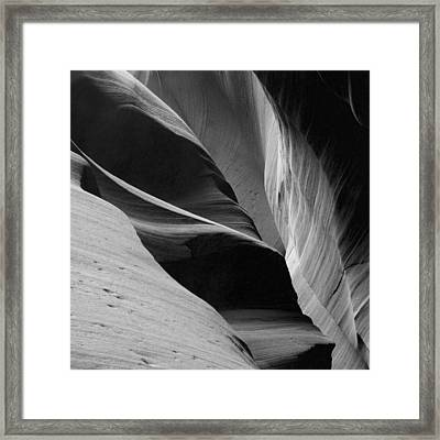 Framed Print featuring the photograph Antelope Canyon Sandstone Abstract by Mike Irwin