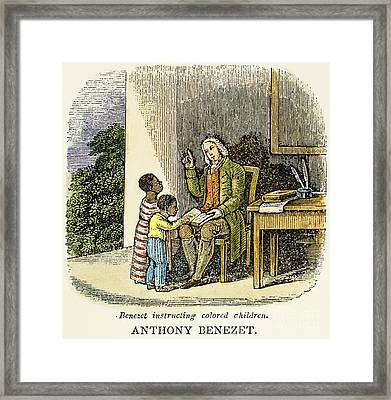 Anthony Benezet (1713-1784) Framed Print