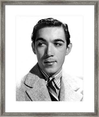 Anthony Quinn, Paramount Pictures, 1938 Framed Print by Everett