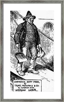 Anti-immigrant Cartoon Framed Print by Granger