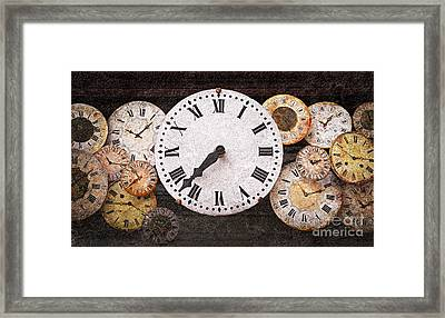 Antique Clocks Framed Print