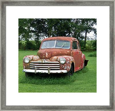 Antique Ford Car 1 Framed Print by Douglas Barnett