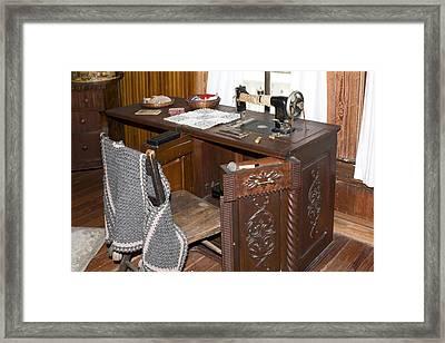 Antique Sewing Machine Framed Print