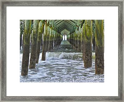 Framed Print featuring the photograph Apache Pier by Eve Spring