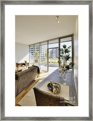 Apartment Living Room Interior Framed Print