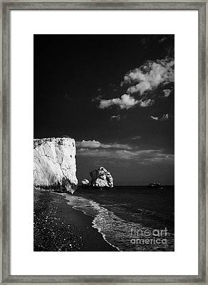 Aphrodites Rock Petra Tou Romiou Republic Of Cyprus Framed Print by Joe Fox