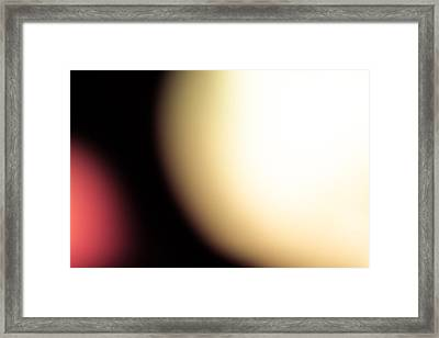Apple And Bowl Framed Print