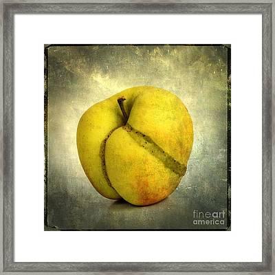 Apple Textured Framed Print by Bernard Jaubert