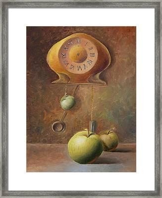 Apple Time Framed Print by Elena Melnikova