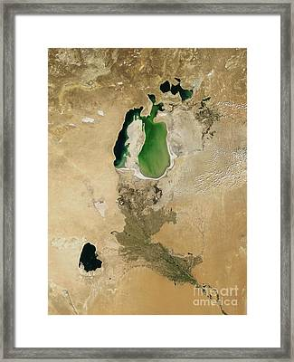 Aral Sea Framed Print by NASA / Science Source