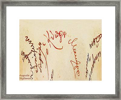 Archbishop Makarios  Autograph Framed Print