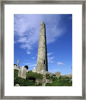 Ardmore Round Tower, Ardmore, Co Framed Print by The Irish Image Collection