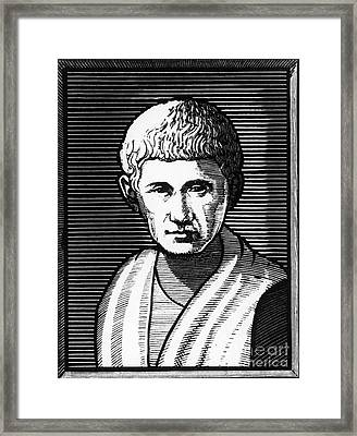 Aristotle, Ancient Greek Philosopher Framed Print by Omikron
