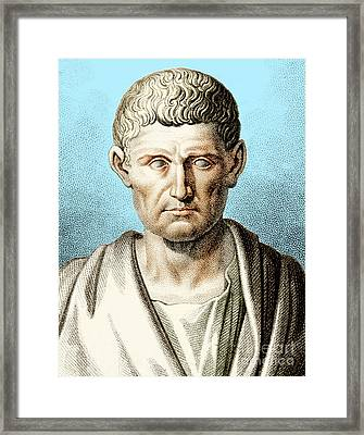 Aristotle, Ancient Greek Philosopher Framed Print by Photo Researchers