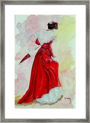 Arlesienne Framed Print by Brigitte Grange