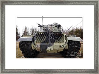Armored Tank Framed Print by Rose Santuci-Sofranko