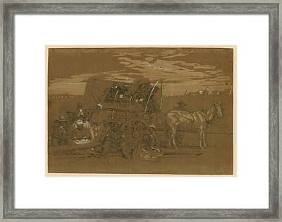 Arrival Of An African American Family Framed Print by Everett