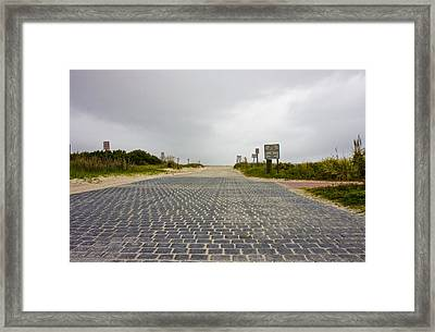 Arriving At The End Framed Print by Betsy Knapp