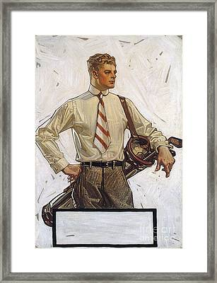 Arrow Shirt Collar Ad, 1922 Framed Print by Granger