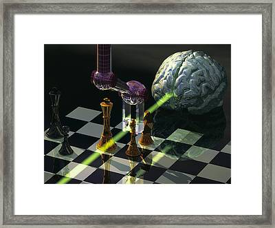 Artificial Intelligence Framed Print by Laguna Design