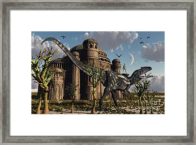 Artists Concept Of A Reptoid Race Whom Framed Print by Mark Stevenson