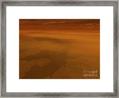 Artists Concept Of The Surface Framed Print