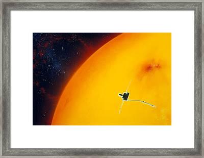Artist's Impression Of Ulysses Approacing The Sun Framed Print