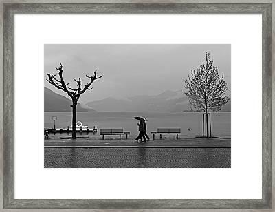 Ascona With Rain Framed Print by Joana Kruse