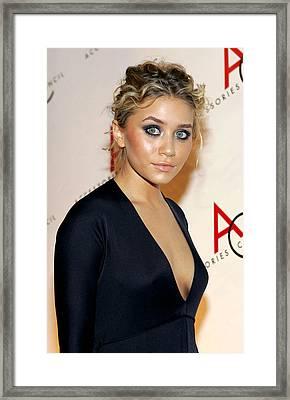 Ashley Olsen Wearing Calvin Klein Framed Print
