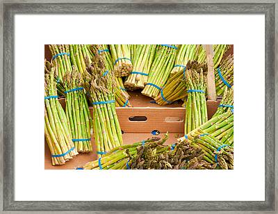 Asparagus Framed Print by Tom Gowanlock