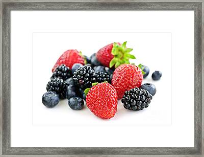 Assorted Fresh Berries Framed Print