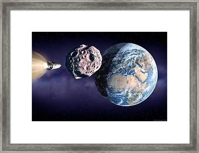 Asteroid Deflection Framed Print