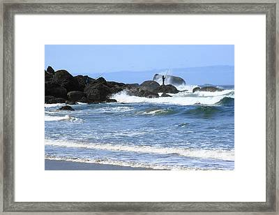 At Falcon Cove Framed Print