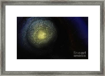 Framed Print featuring the painting At The End Of The Tunnel by Ayasha Loya