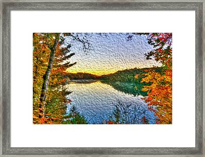 At The Lake Framed Print by Andre Faubert